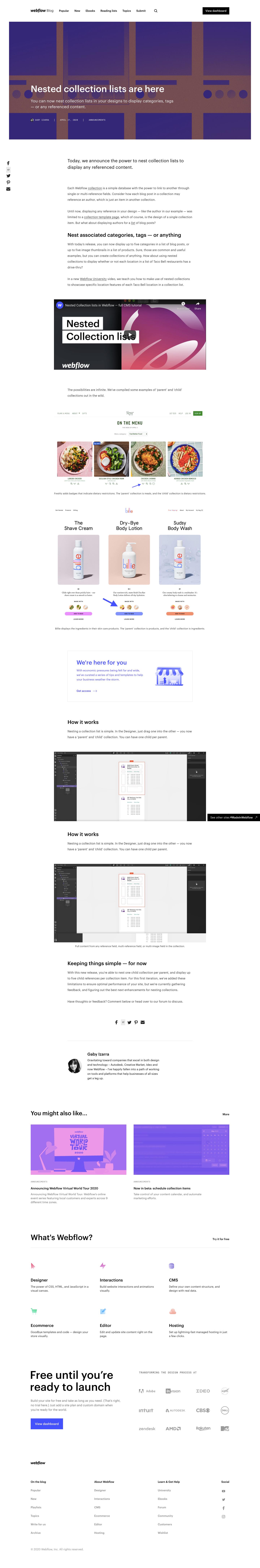 Webflow Product Update
