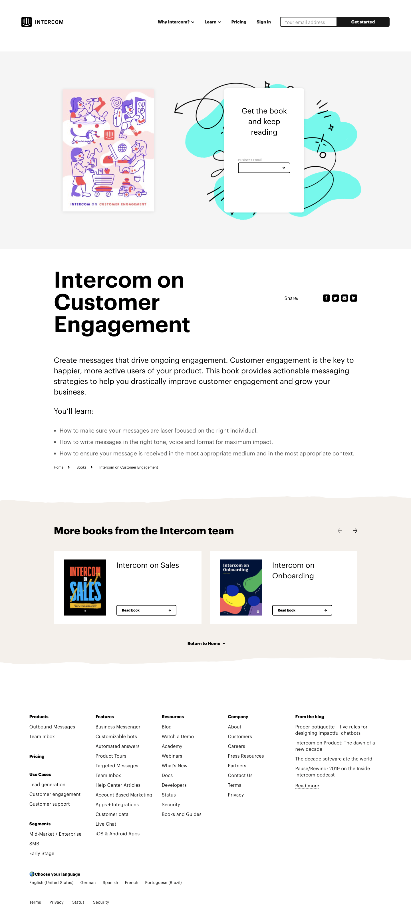 Intercom eBook Page