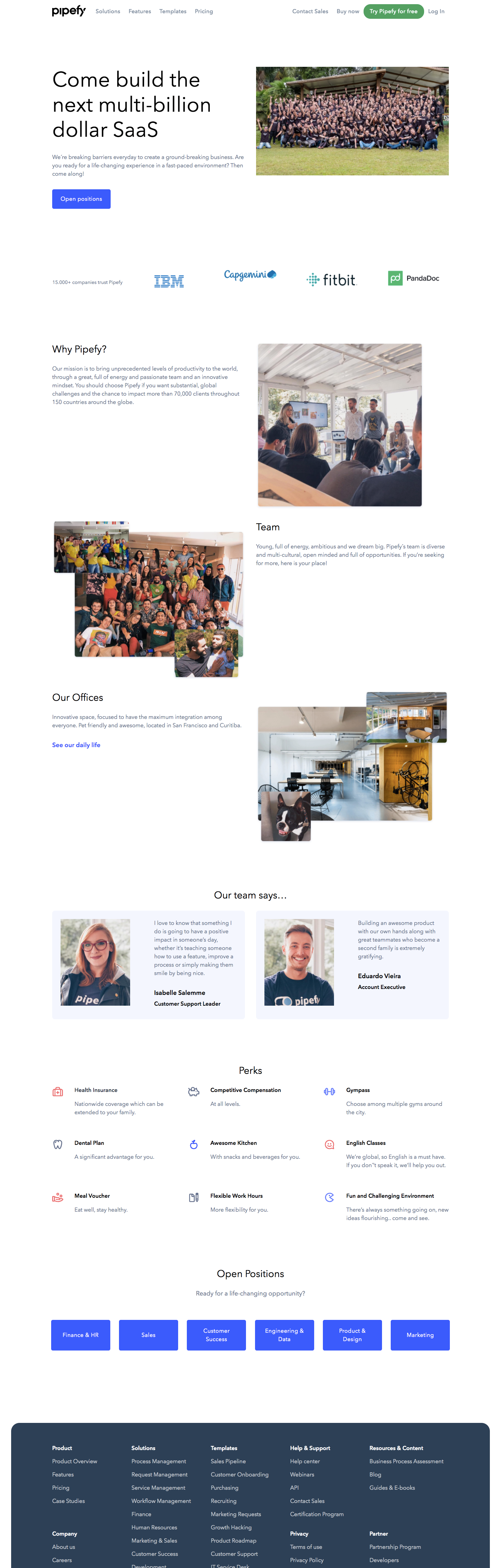 Pipefy Careers Page