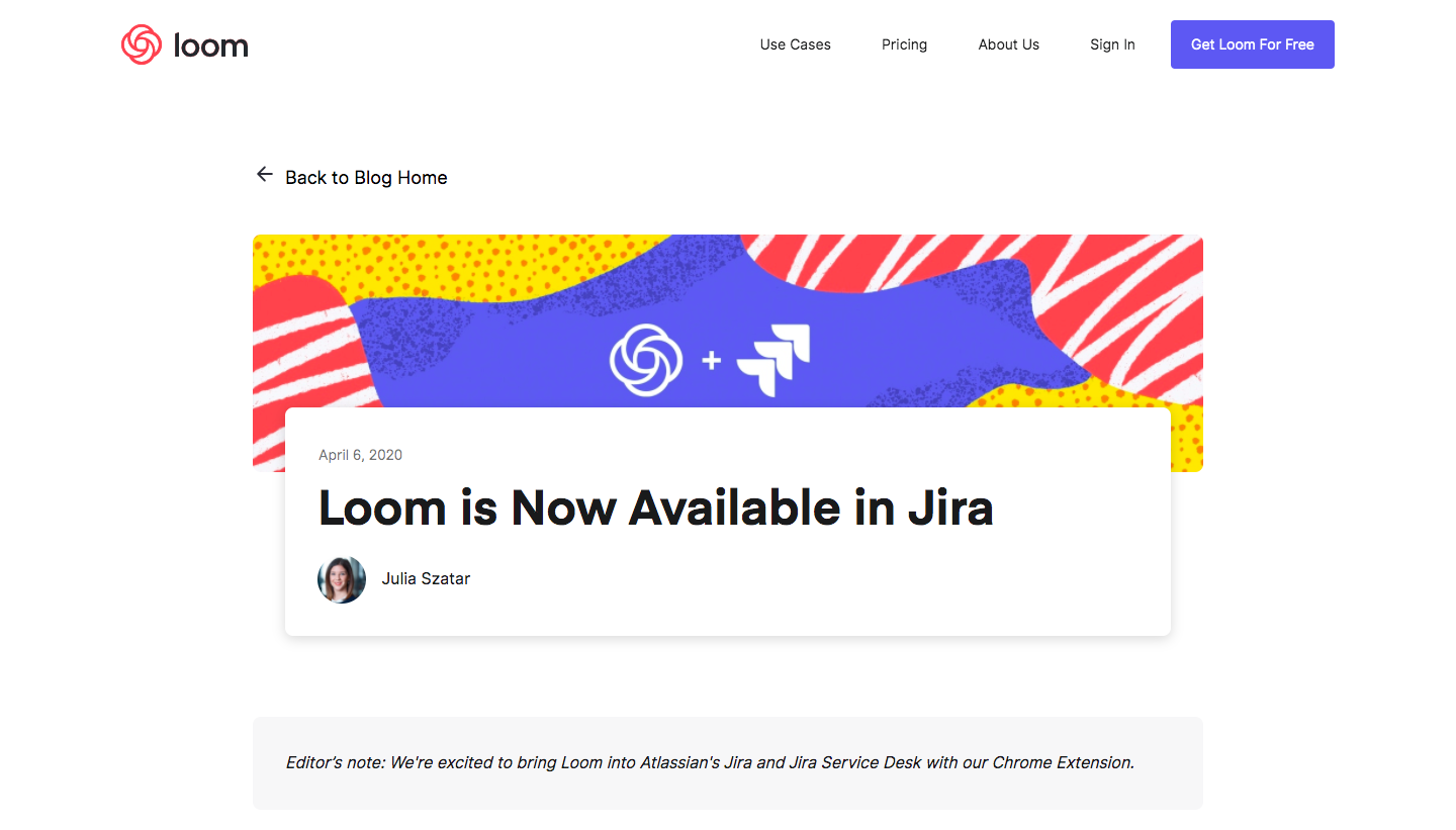 Loom New Integration