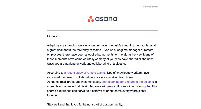 Asana Newsletters