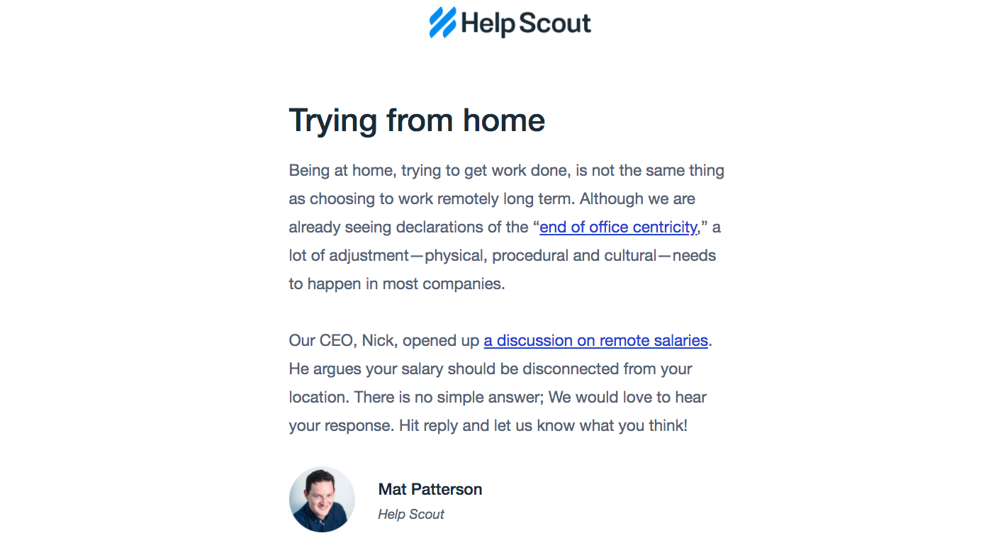 Help Scout Newsletter