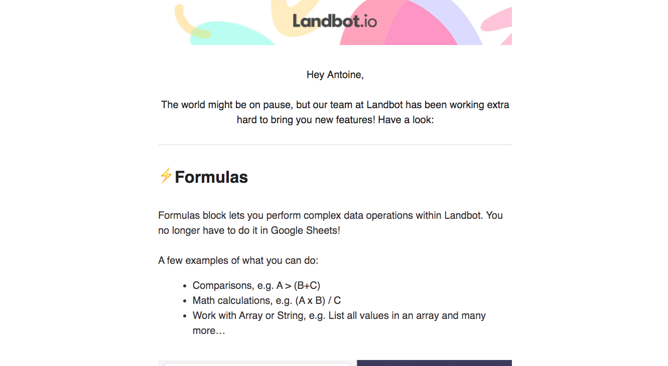 Landbot New Features Emails