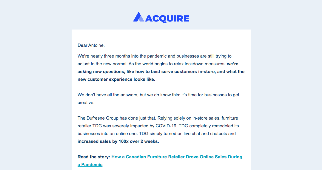 Acquire Newsletters