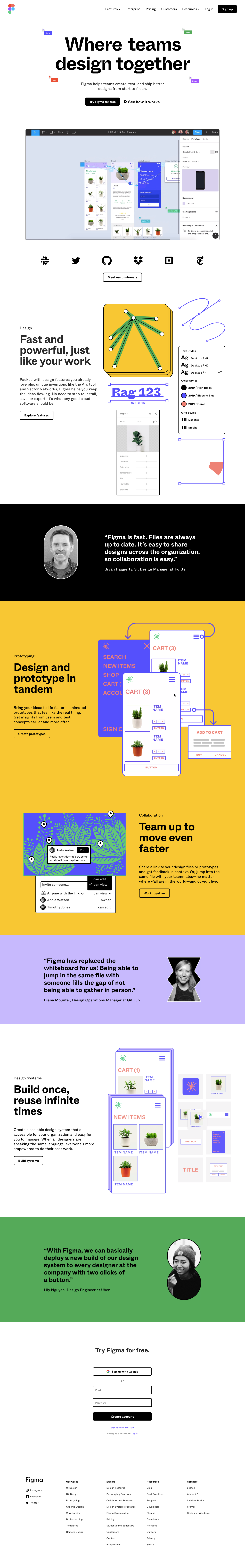Figma Landing Page