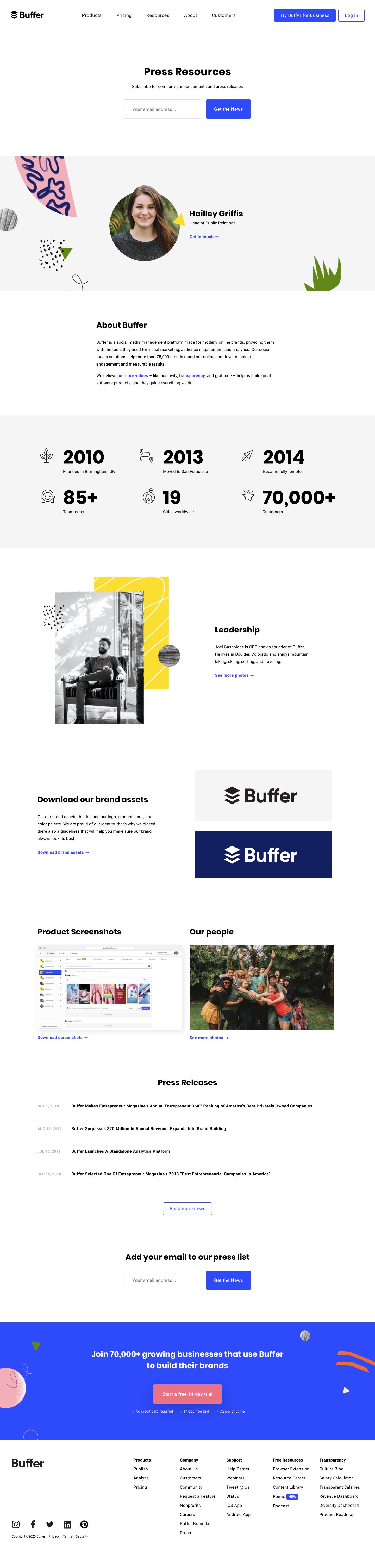 Buffer Press Page