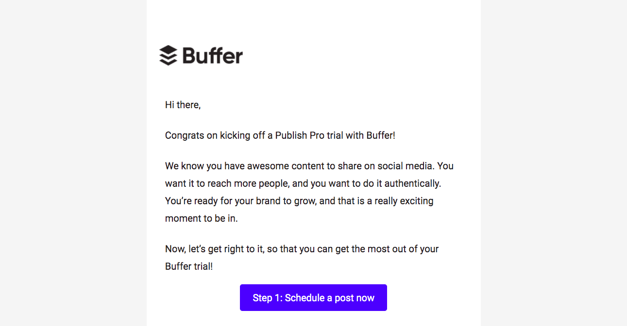 Buffer Free Trial Emails