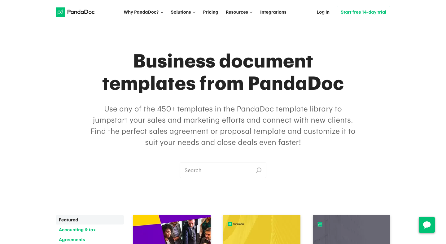 PandaDoc Template Library