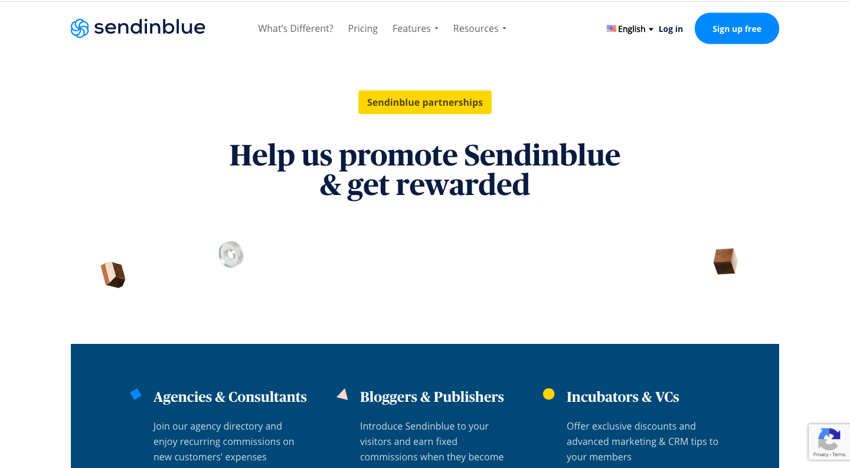 Sendinblue Affiliate Page