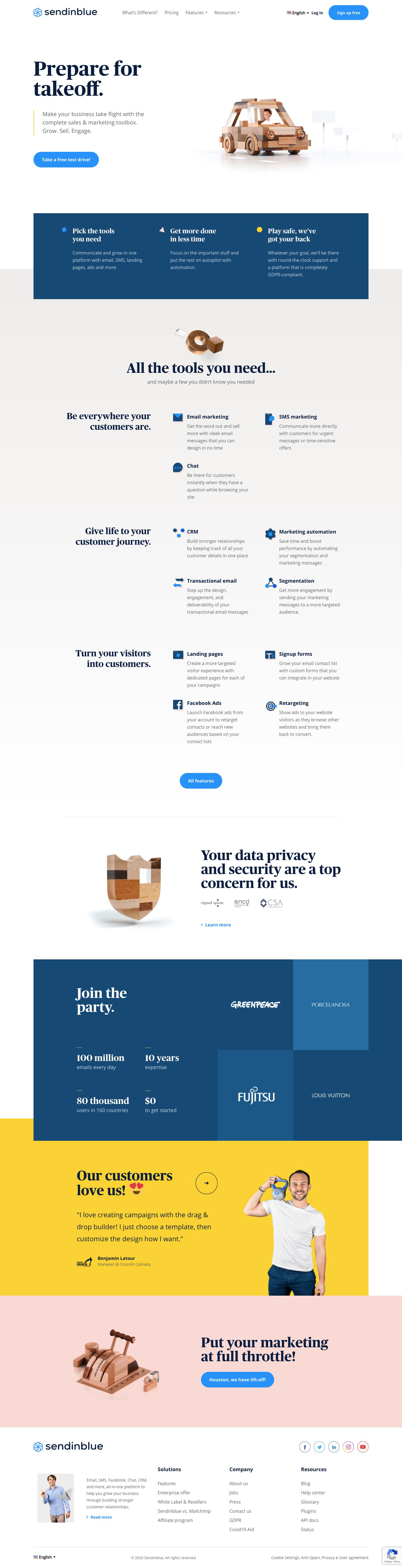 Sendinblue Landing Page