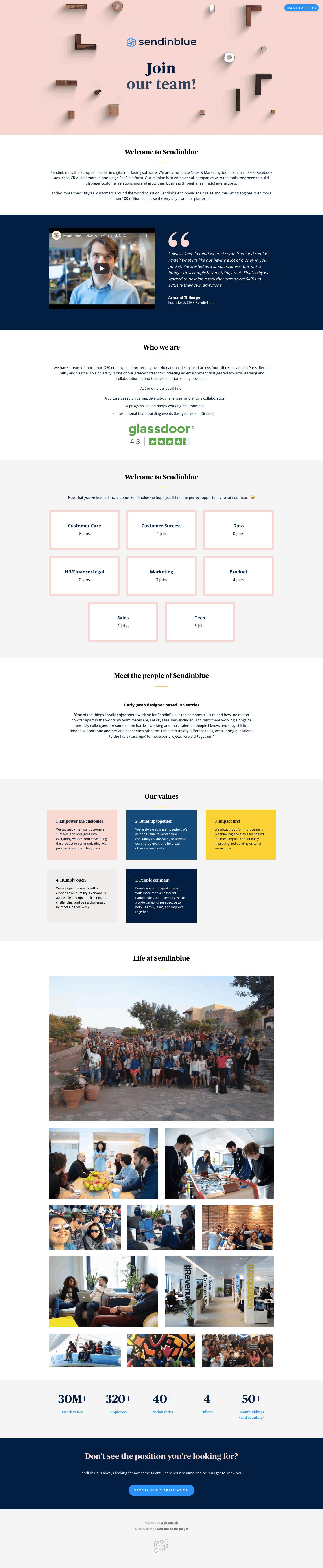 Sendinblue Careers Page