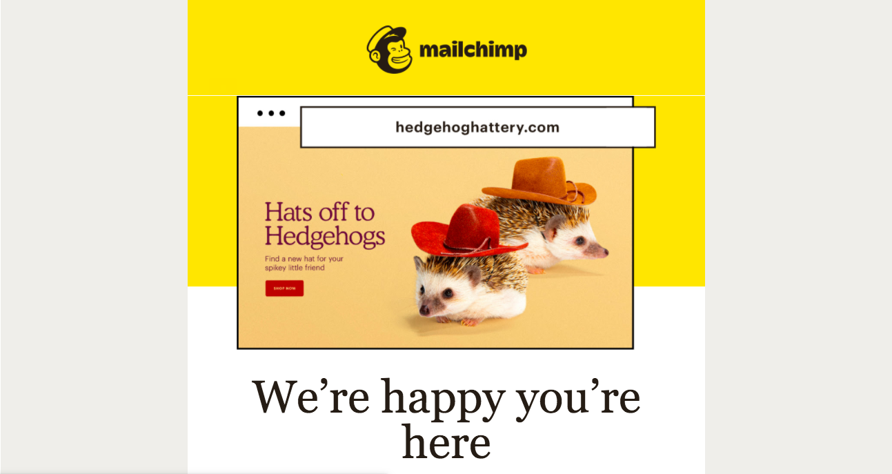 Mailchimp Welcome Email