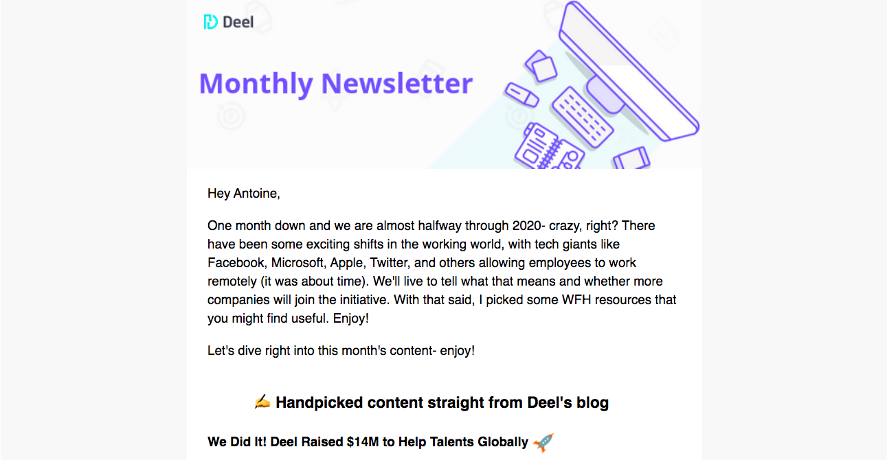 Deel Newsletters