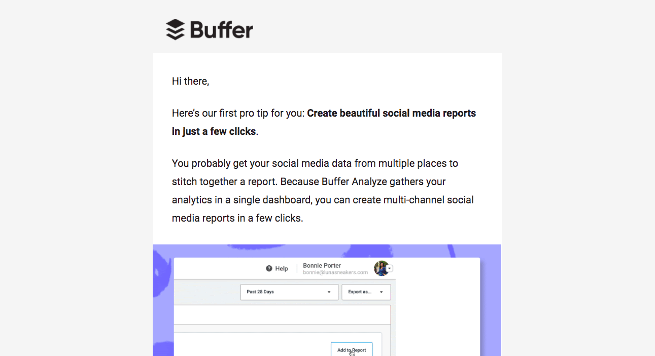 Buffer Onboarding Emails