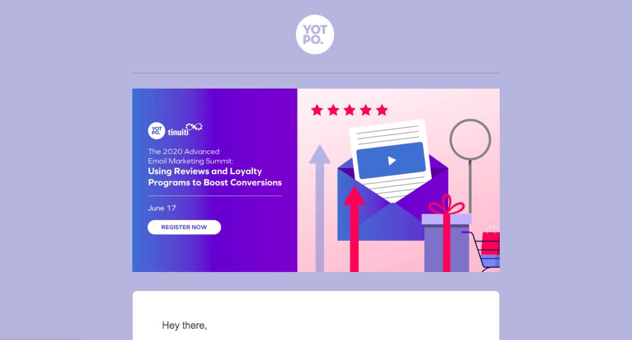 Yotpo Webinars Emails