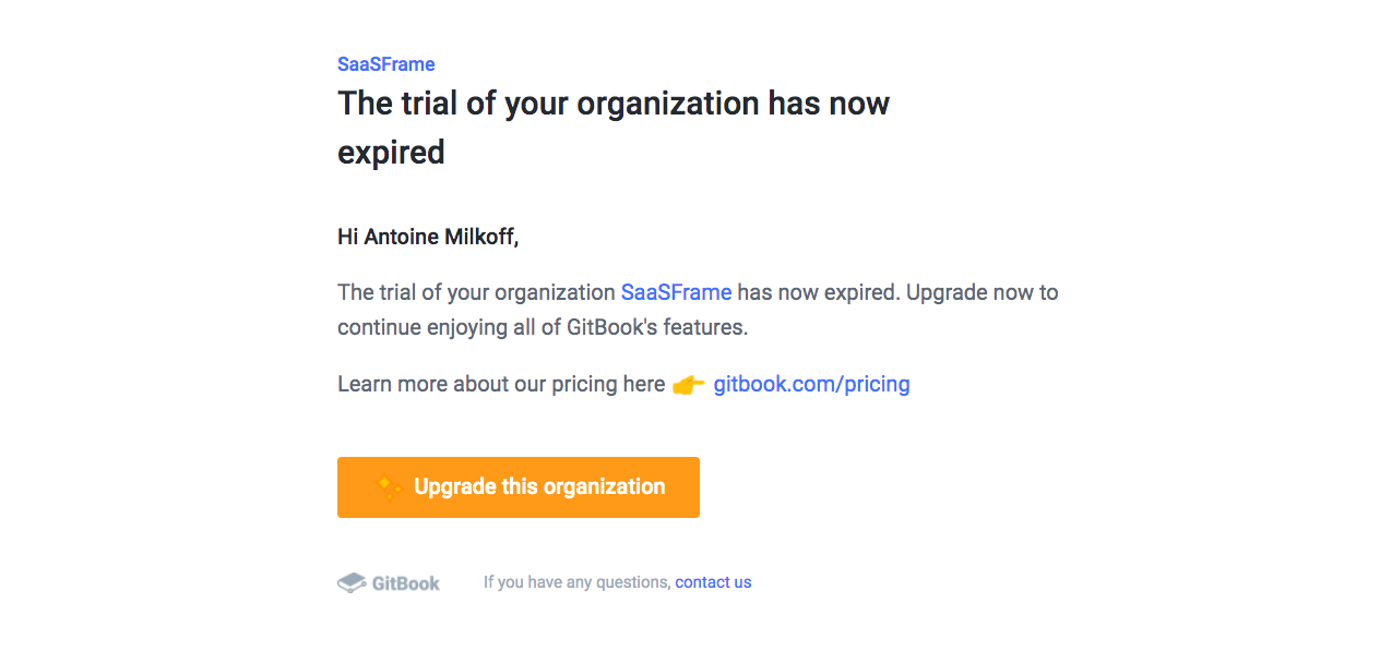GitBook Free Trial Email