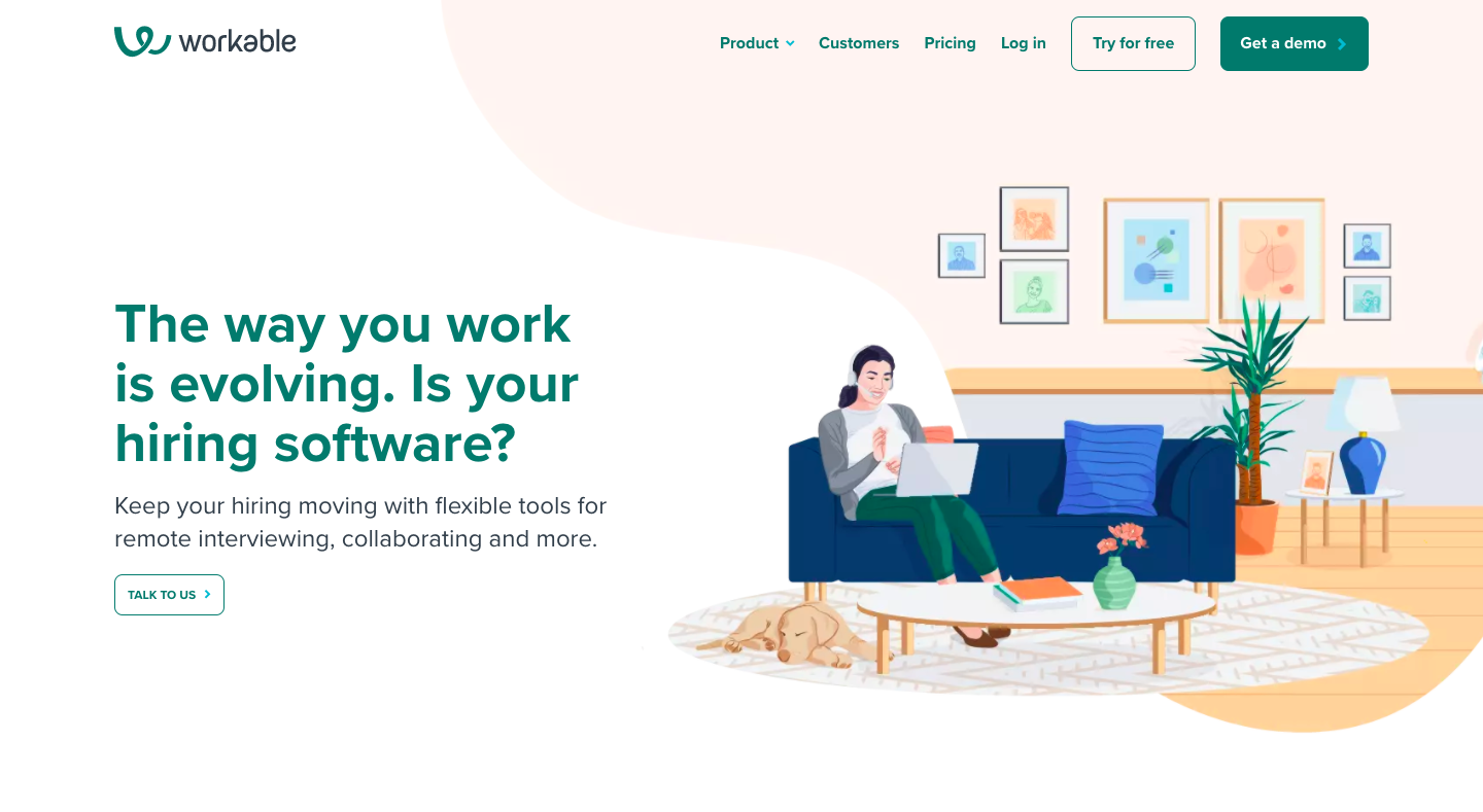 Workable Landing Page