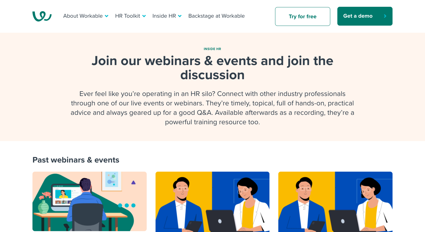 Workable Webinars Page