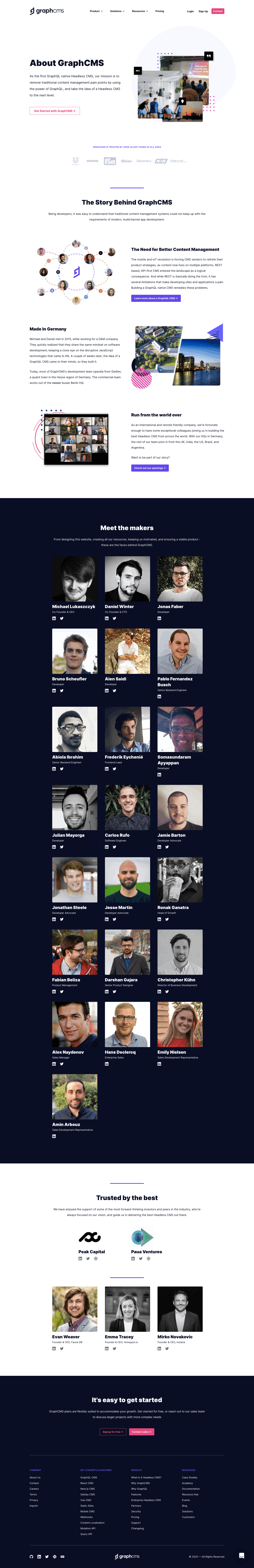 GraphCMS About Page