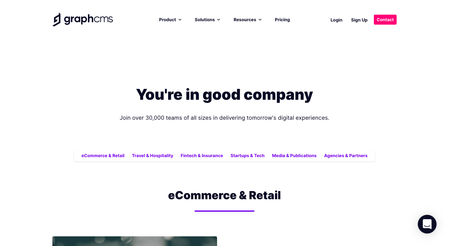GraphCMS Customers Page