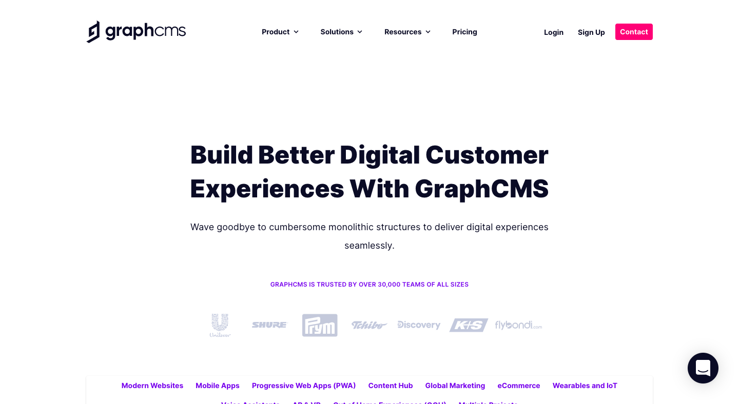 GraphCMS Use Cases Page