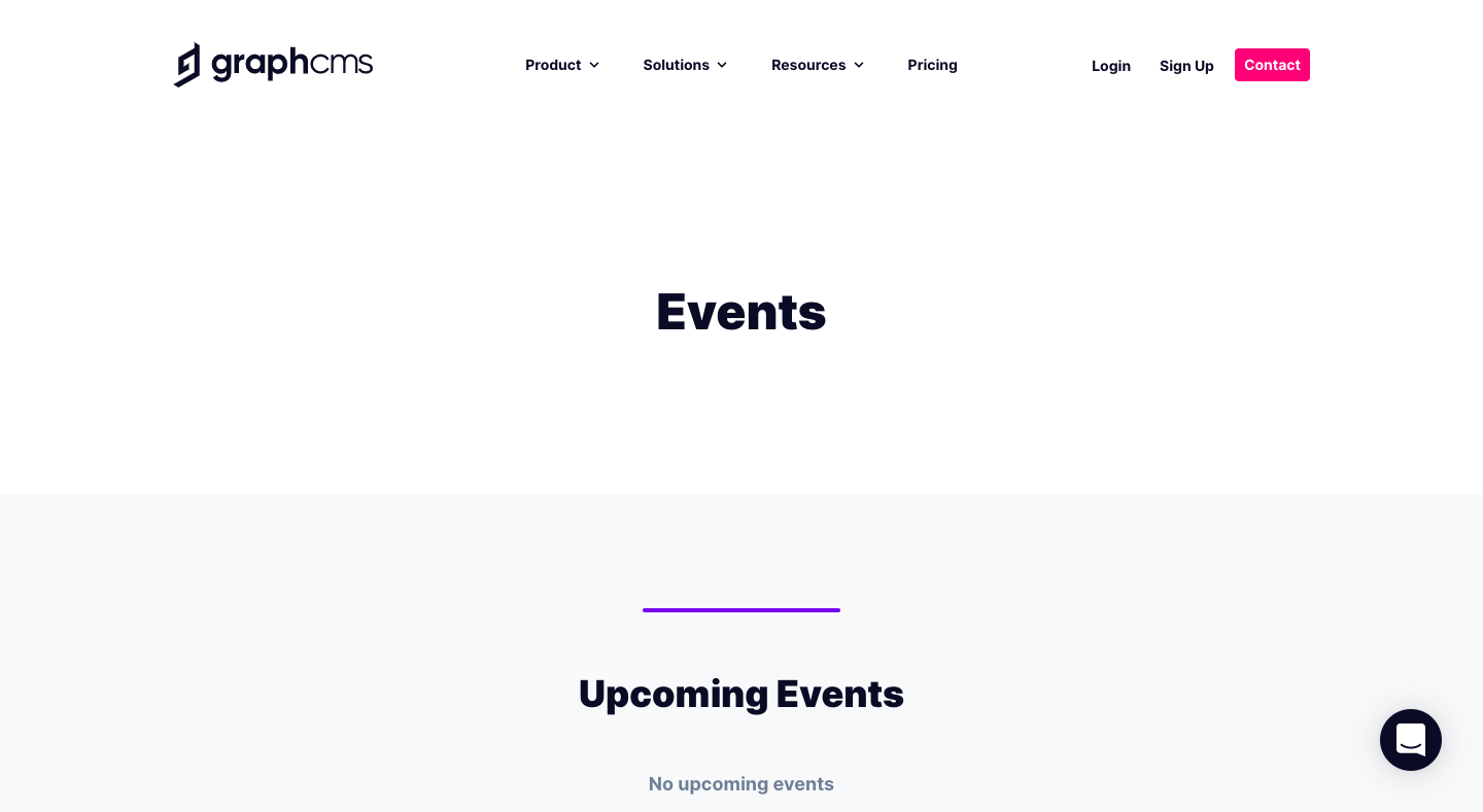 GraphCMS Events Page