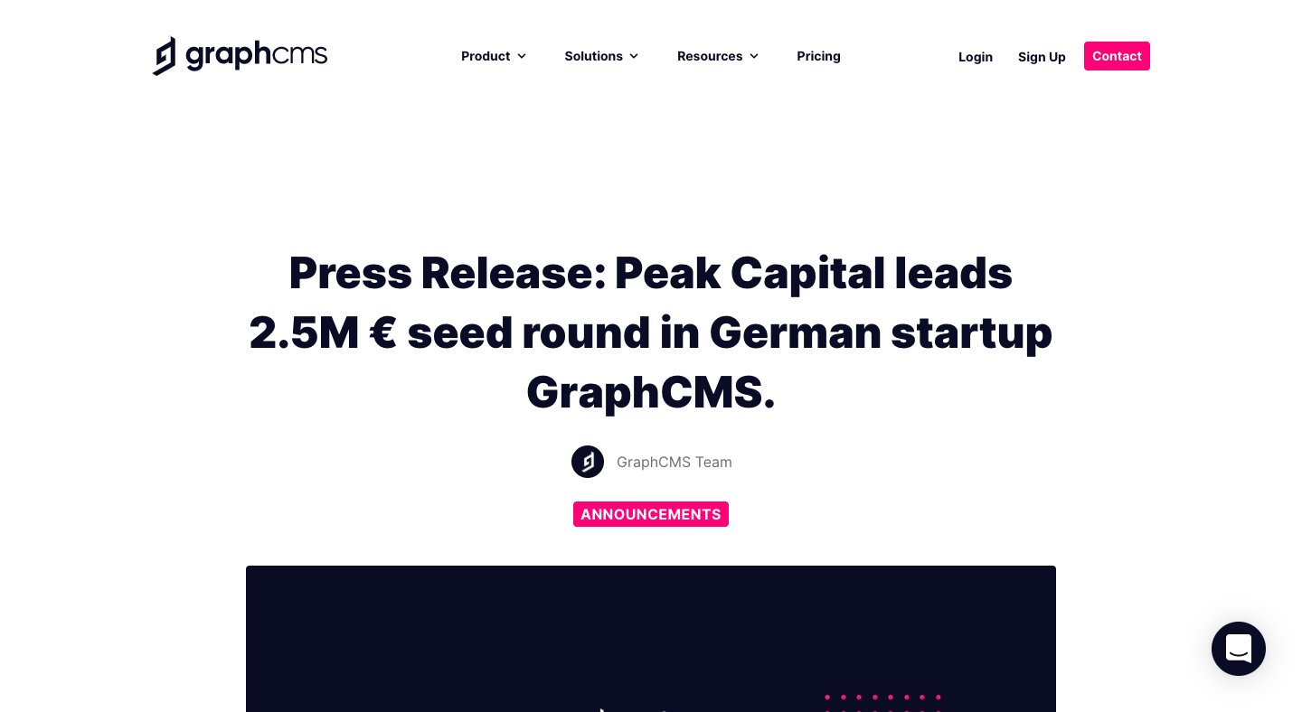 GraphCMS Funding Announcement