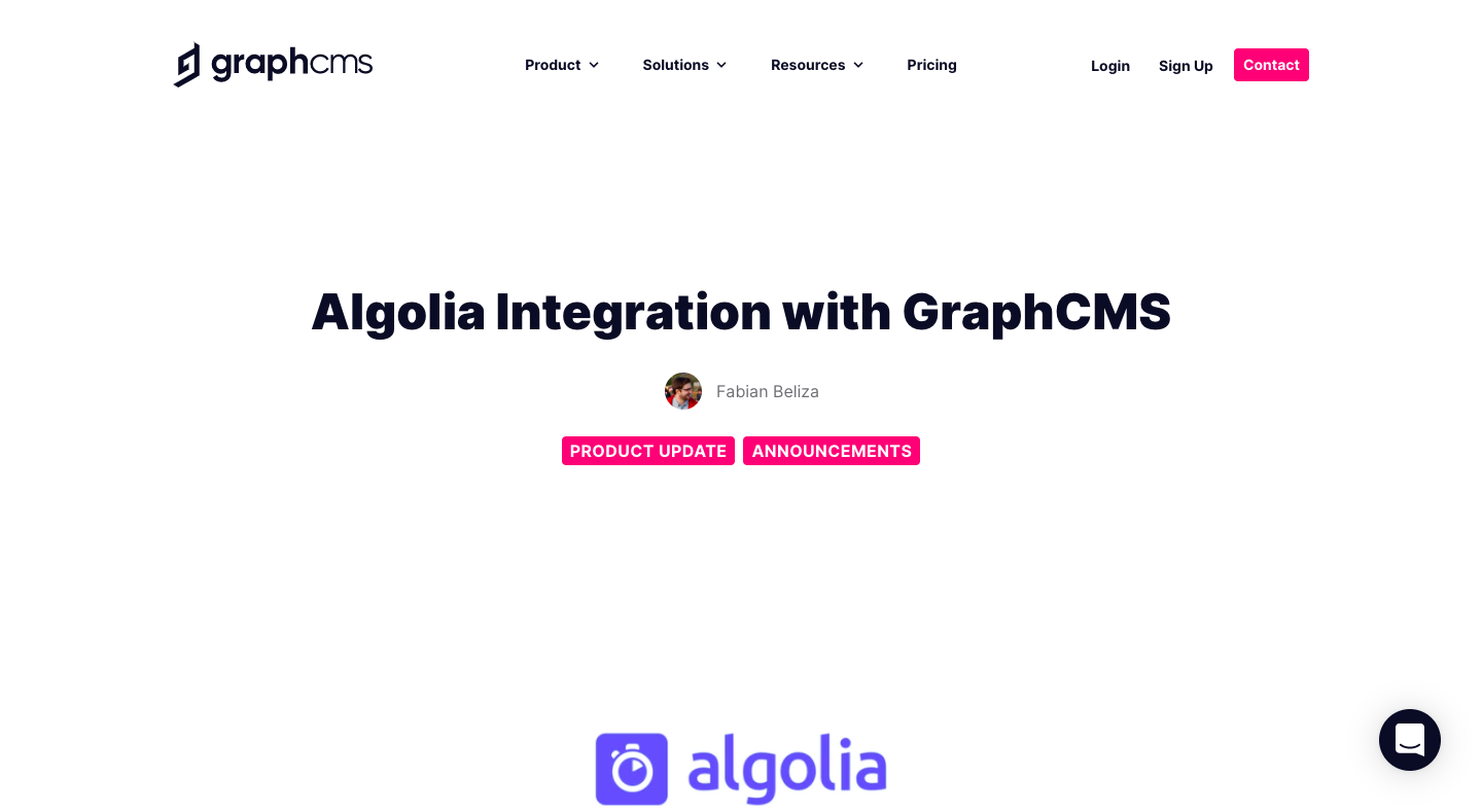 GraphCMS Integration Announcement
