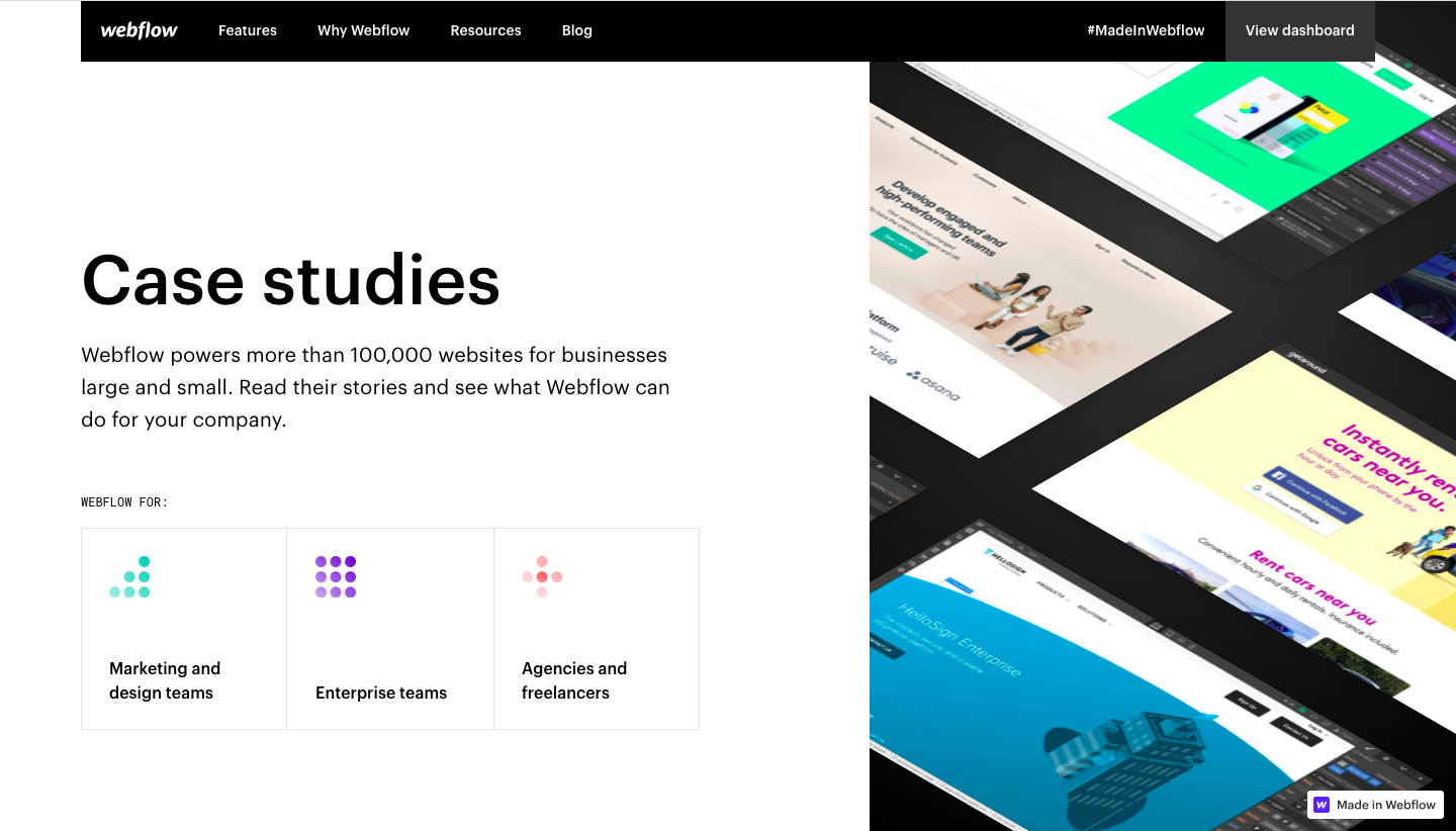 Webflow Customers Page