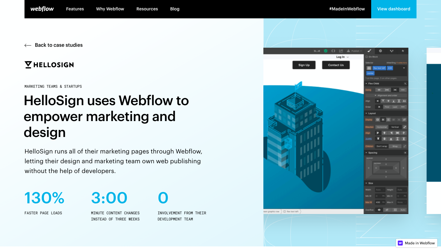 Webflow Customers Stories