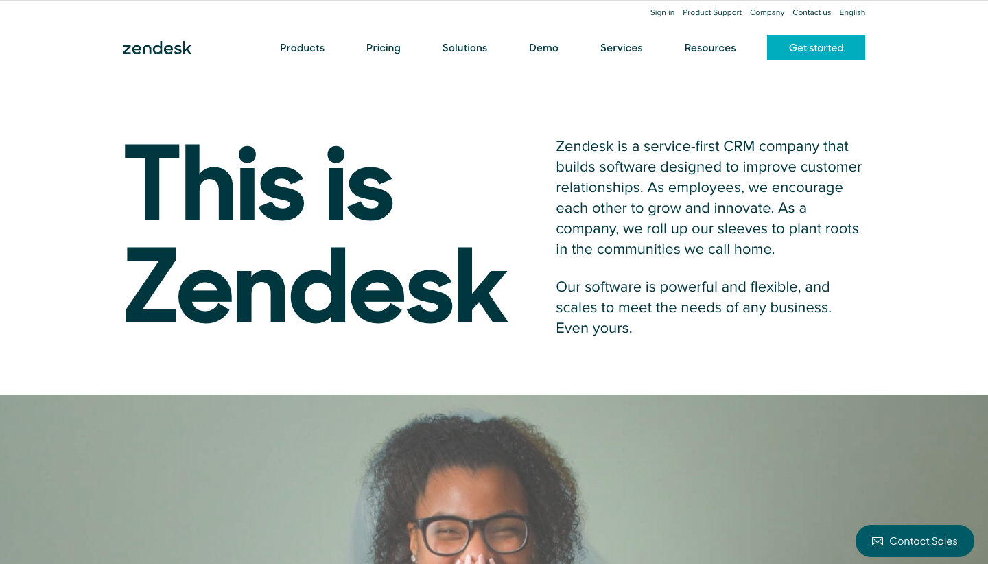 Zendesk About Page