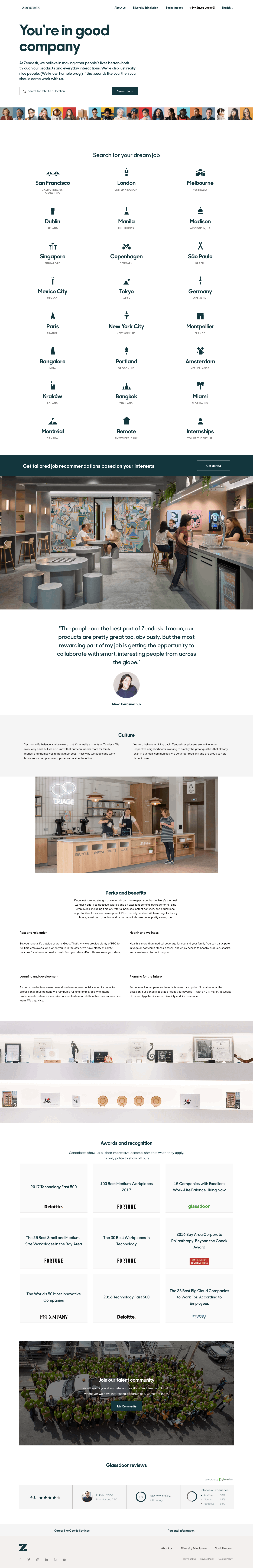Zendesk Careers Page