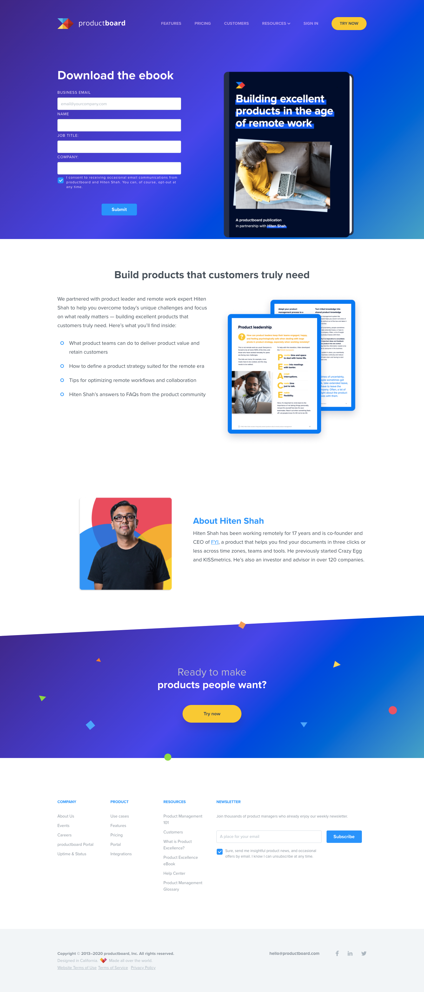 Productboard eBook Page