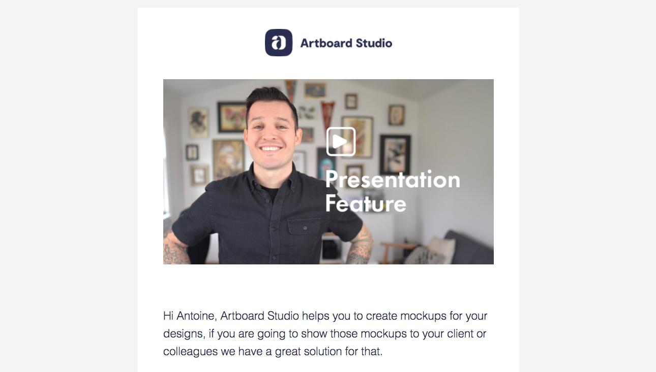 Artboard Studio Onboarding Email Flow