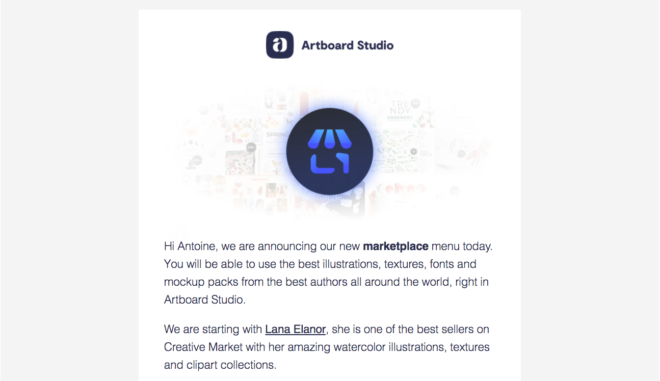 Artboard Studio New Feature Emails