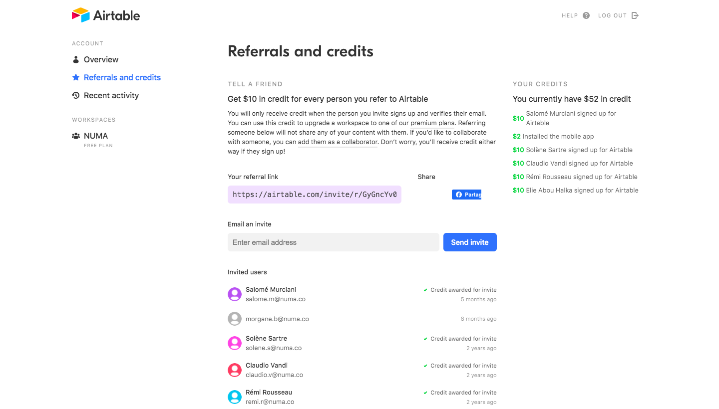 Airtable Referral Interface