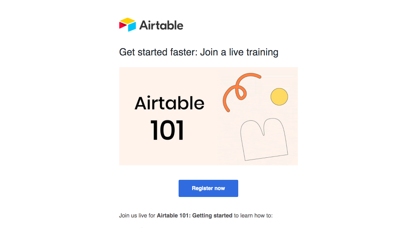 Airtable Webinars Emails
