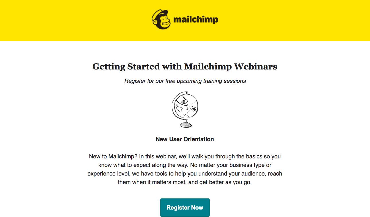Mailchimp Webinars Emails