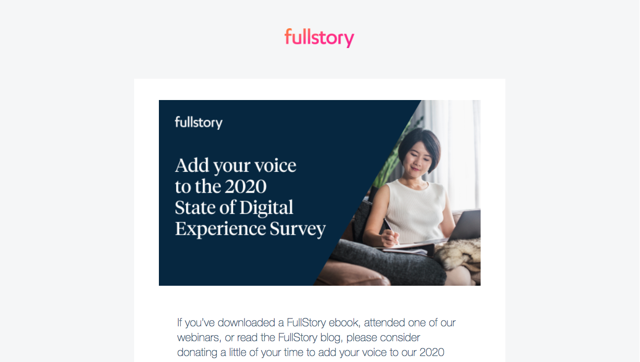 Fullstory Survey Emails