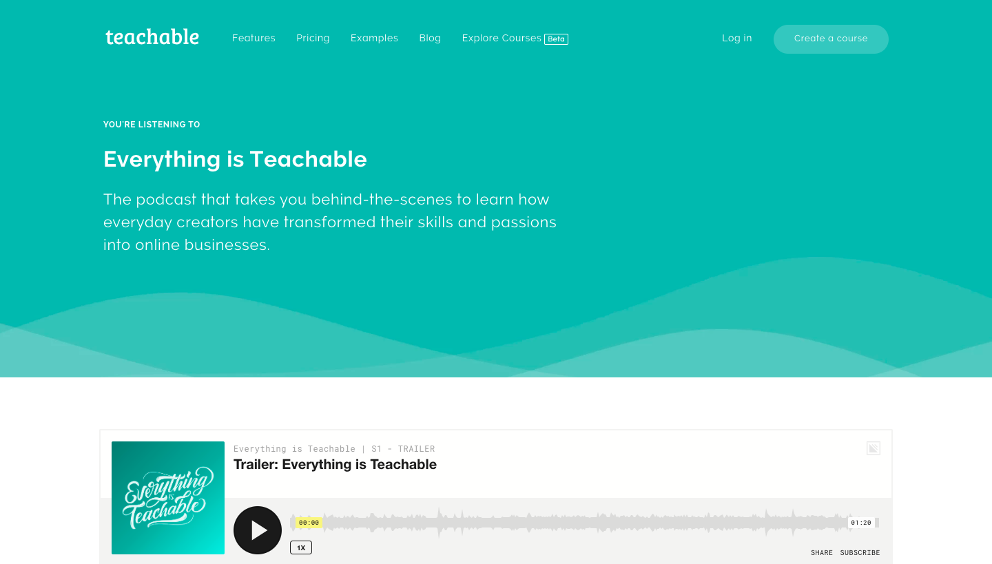 Teachable Podcast Page