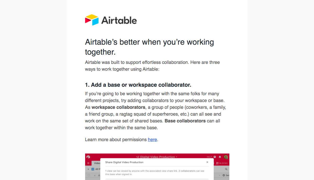 Airtable Invite Your Team Emails