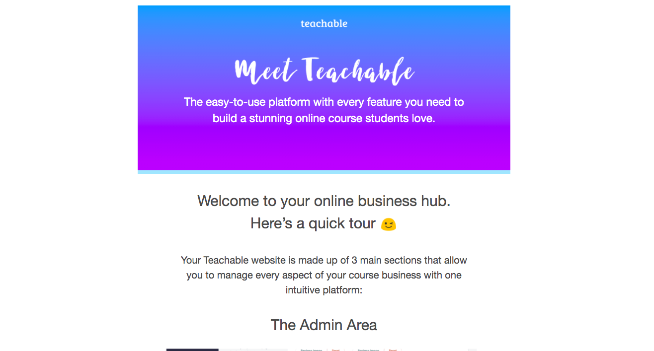 Teachable Onboarding Email Flow