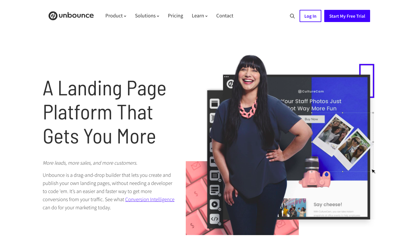 Unbounce About Page