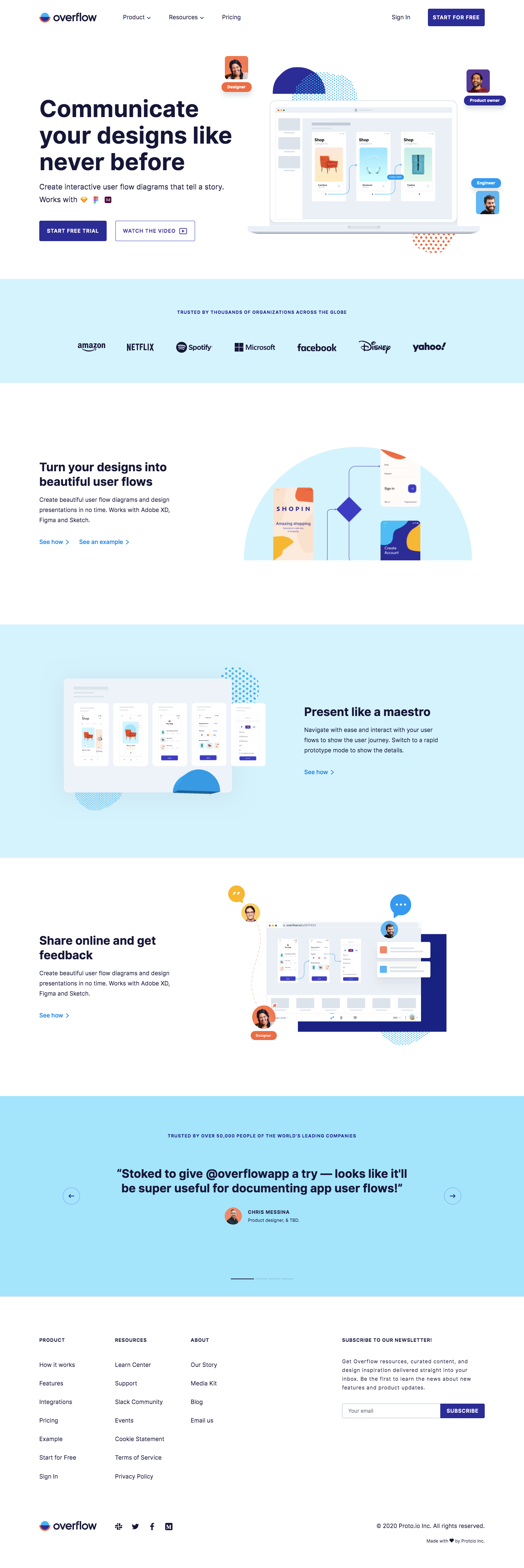 Overflow Landing Page
