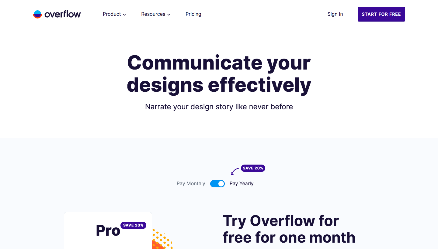 Overflow Pricing Page