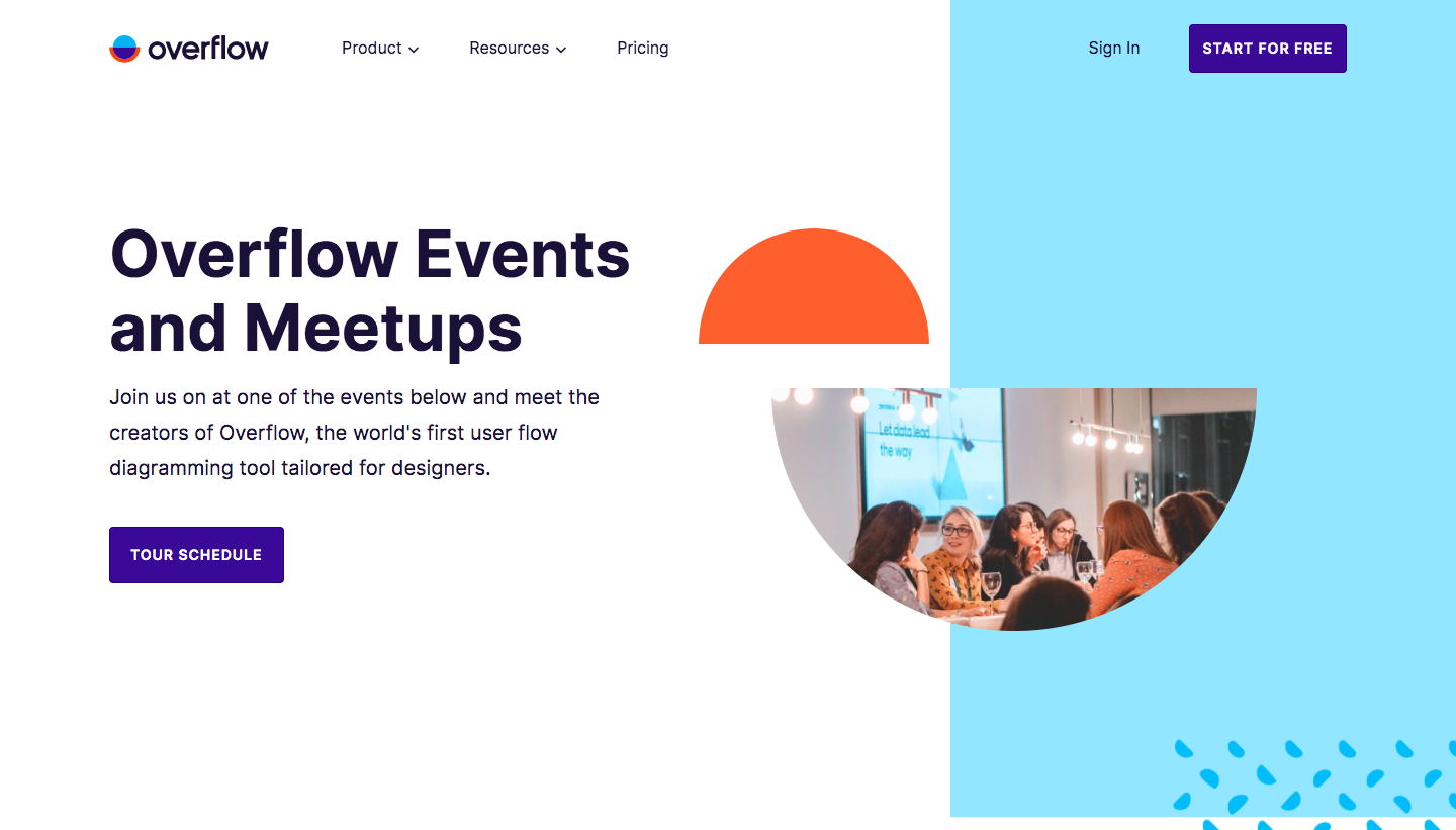 Overflow Events Page