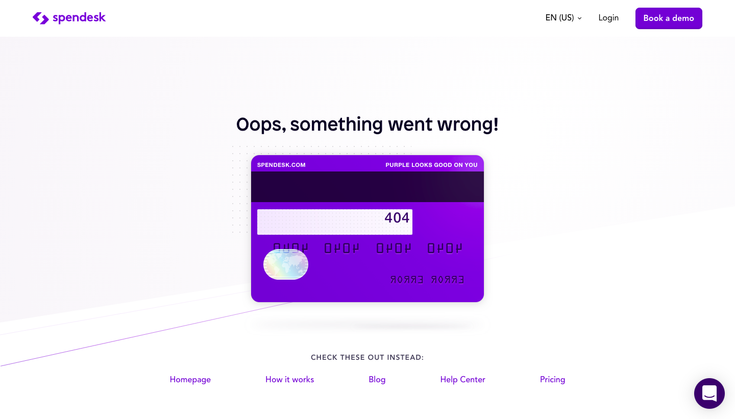 Spendesk 404 Page