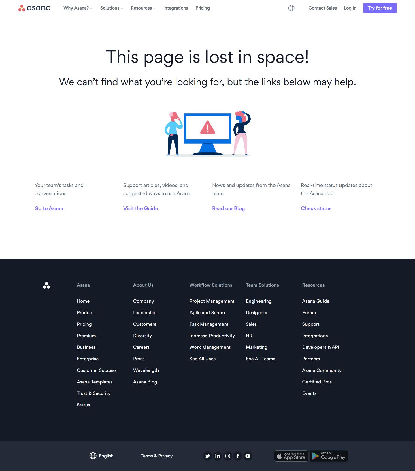 Asana 404 Page