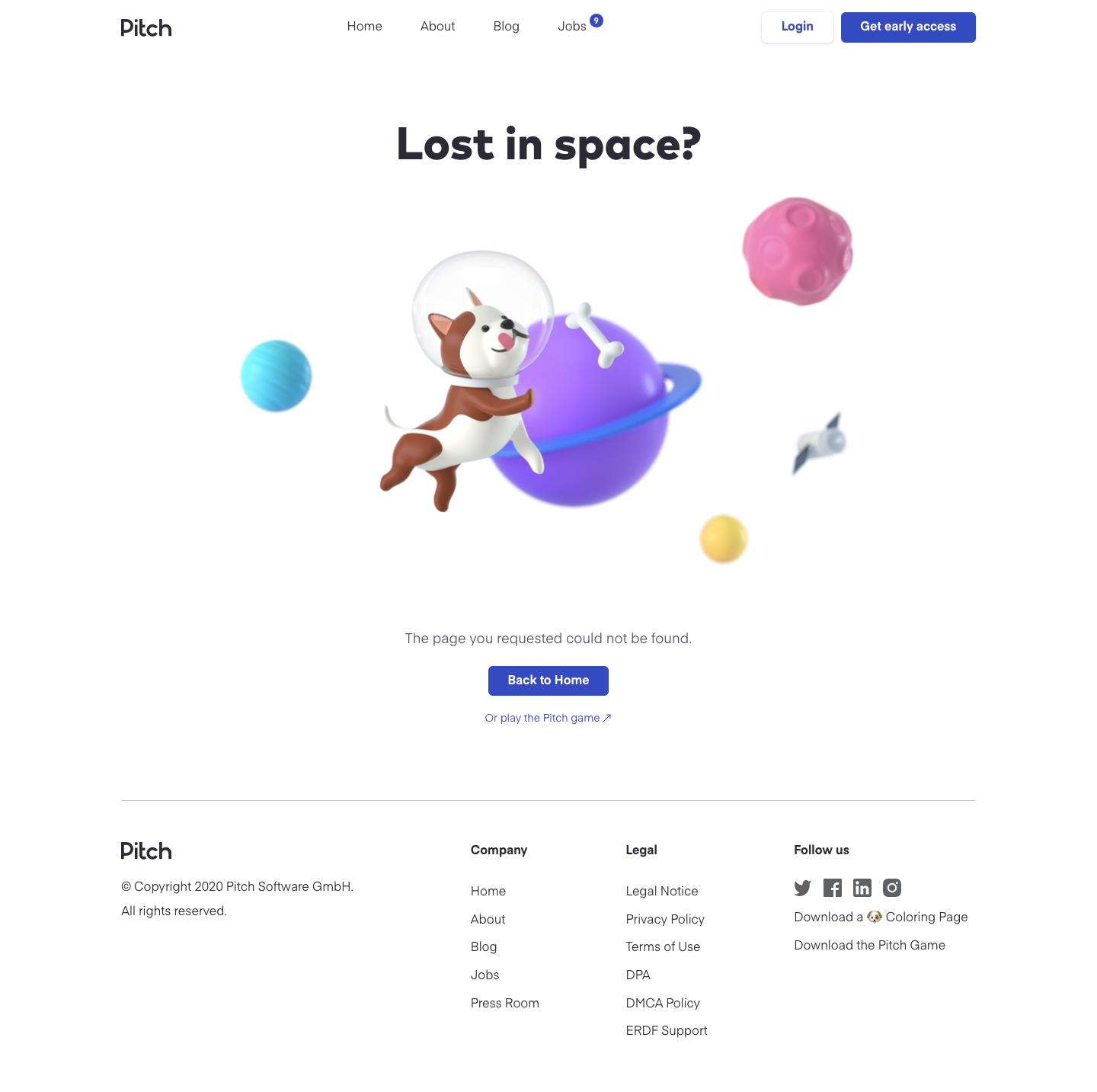 Pitch 404 Page