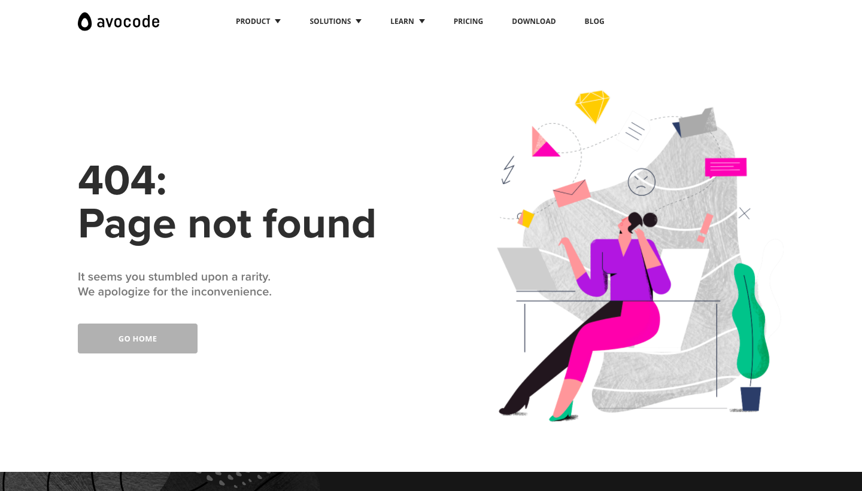 Avocode 404 Page
